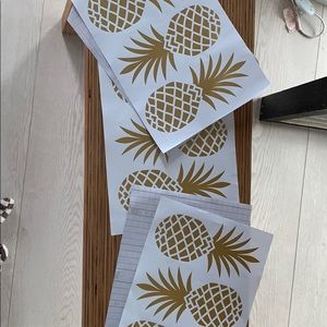 9 stick on pineapple wall decals